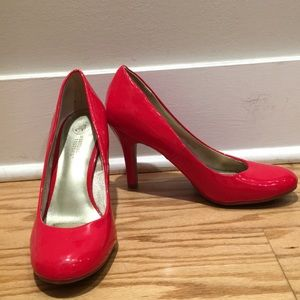 Red Patton Pumps
